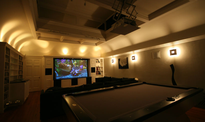 Amazing Home Cinema image Copyright Daniels Construction - Cambridge - UK