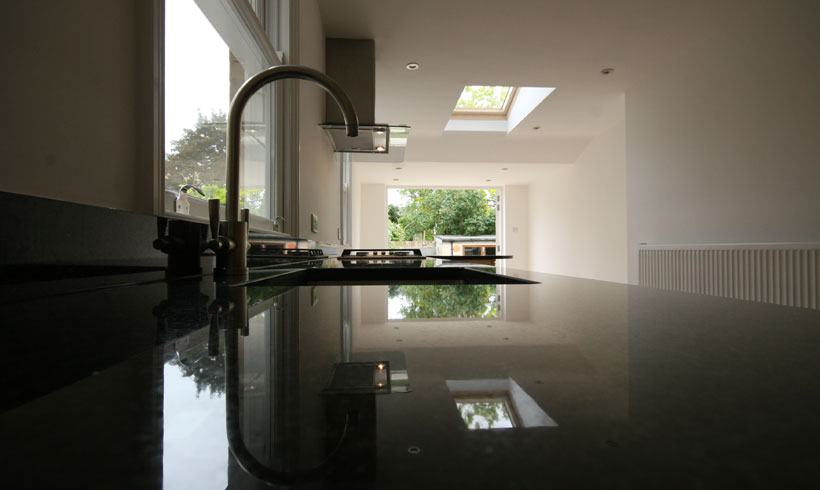 Beautiful kitchen work surface image Copyright Daniels Construction - Cambridge - UK